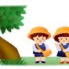 男の子と女の子の保育園児